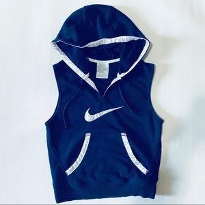 🍀Nike sleeveless trendy hoodie white satin lining
